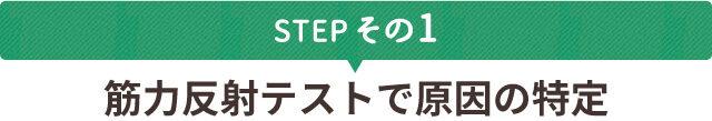 STEPその1 筋力反射テストで原因の特定
