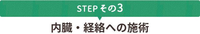 STEPその3 内臓・経絡への施術